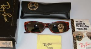 Ray Ban W1954 Fugitives collection Square Tortoise shell with G 15 Lenses